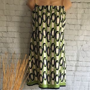 Vintage Milly of New York Silk Gold Chain Dress 8